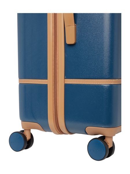 Dickins & Jones Vintage trunk dark blue 8 wheel large suitcase