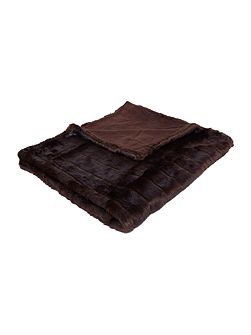 Chocolate stripe throw