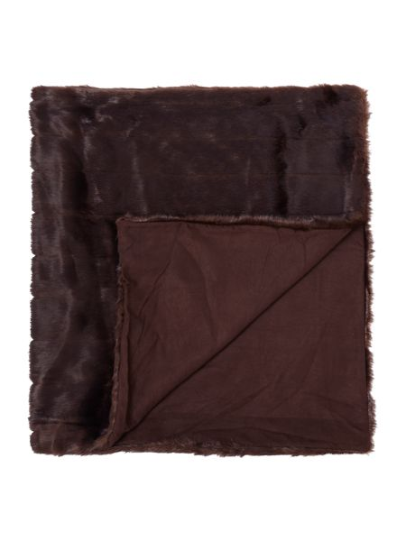 Linea Chocolate stripe throw