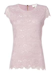 Linea Zip back lace front top
