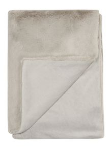 Linea Luxury plush throw, silver grey