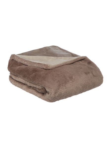 Linea Luxury plush throw, beige