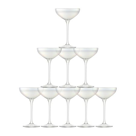 LSA Tower Champagne Set Mother of Pearl x 10