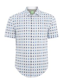 Hugo Boss Balduino square check short sleeve shirt
