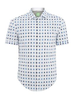 Balduino square check short sleeve shirt