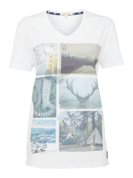 Barbour Brae postcard tee