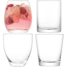 LSA Lulu Tumbler Clear Assorted x 4