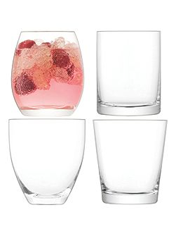 Lulu Tumbler Clear Assorted x 4