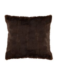 Linea Chocolate stripe cushion