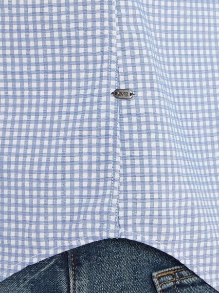 Hugo Boss C-bansi small gingham check long sleeve shirt