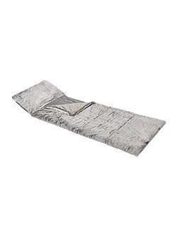 Grey faux fur sleeping bag
