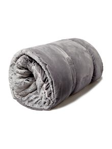 Linea Grey faux fur sleeping bag