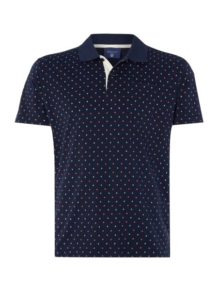 Gant Jersey All Over Print Short Sleeve Polo Shirt