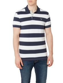Gant Barstripe Short Sleeve Polo Shirt