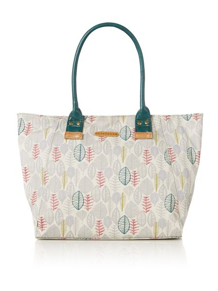 Brakeburn Sketchy Leaves Handbag