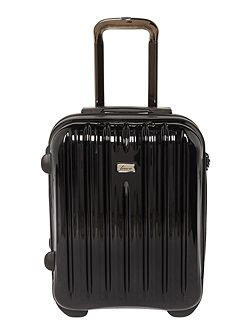 Titanium II black 2 wheel hard cabin suitcase