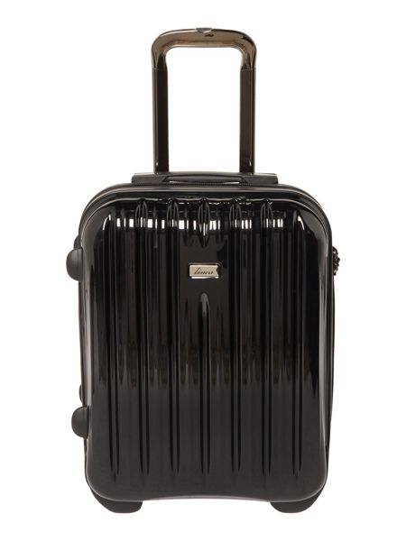 Linea Titanium II black 2 wheel hard cabin suitcase