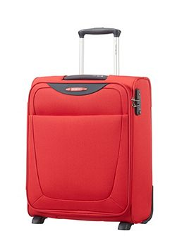 Base hits red 2 wheel 50cm cabin suitcase