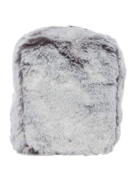 Linea Grey faux fur doorstop