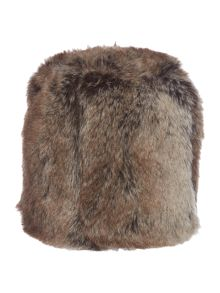 Linea Brown stripe faux fur doorstop