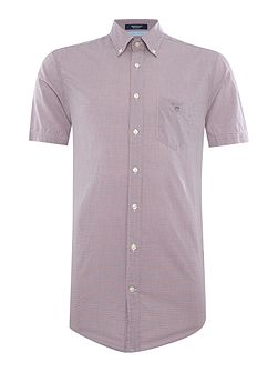 Two Tone Mini Gingham Short Sleeve Shirt