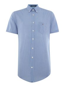 Gant Two Tone Mini Gingham Short Sleeve Shirt