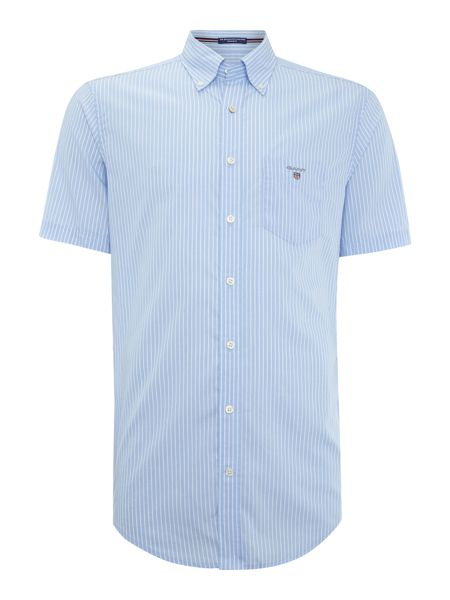 Gant Broadcloth Striped Poplin Short Sleeve Shirt