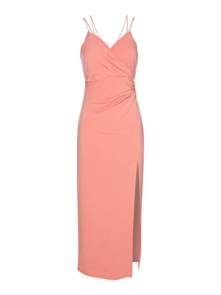 Bardot Sleeveless Cross Back Side Split Dress