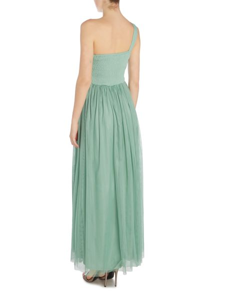 Little Mistress One Shoulder Embellished Detail Maxi Dress