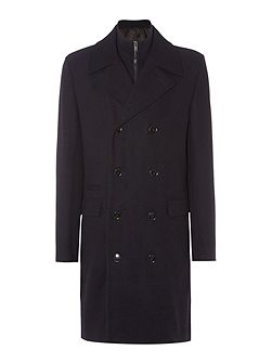 Furness Funnel Neck Double Breasted Coat