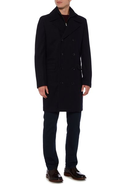 Linea Furness Funnel Neck Double Breasted Coat