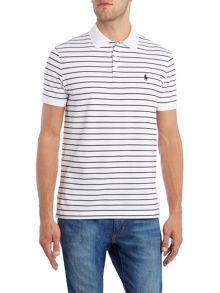 Polo Ralph Lauren Short-Sleeve custom fit stretch stripe mesh
