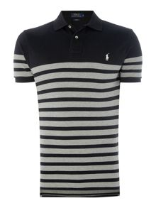 Polo Ralph Lauren Short-Sleeve custom fit stripe mesh