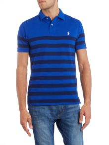Polo Ralph Lauren Short-Sleeve custom fit wide stripe mesh polo