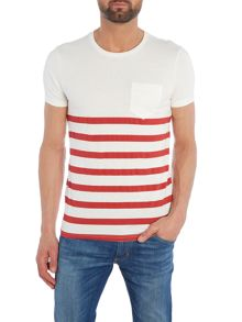 Benetton Stripe Pocket Short Sleeve T-shirt