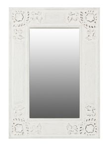 Linea Caitlin carved wooden mirror