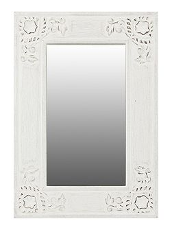 Caitlin carved wooden mirror