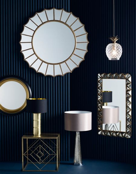 Biba Solange Black & Gold Two Tone Mirror