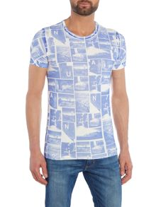 Benetton All Over Polaroid Print Short Sleeve T-shirt