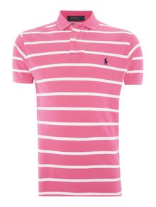 Polo Ralph Lauren Short-Sleeve custom fit fine stripe mesh polo