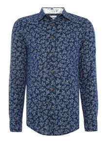 Benetton Floral Print Long Sleeve Shirt