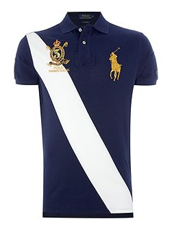 Short-Sleeve custom fit big polo player crest