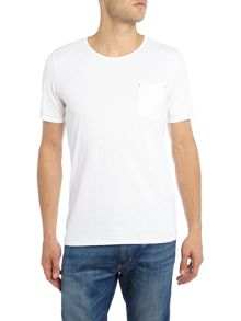 Sisley Men Pocket Detail Short Sleeve T-shirt