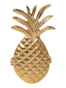 Living by Christiane Lemieux Pineapple napkin rings set of 4