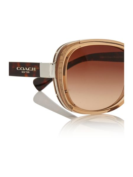 Coach Light brown rectangle HC8172 sunglasses