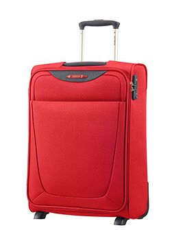 Base hits red 2 wheel 55cm cabin suitcase