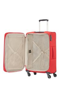 Samsonite Base hits red 4 wheel 66cm medium suitcase