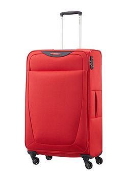 Base hits red 4 wheel 77cm large suitcase