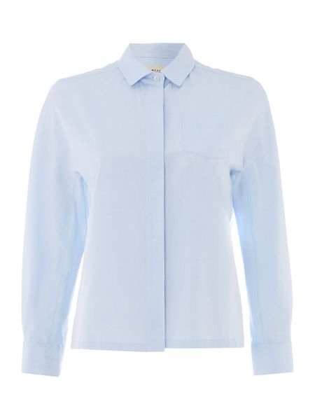 Max Mara Hilde button front long sleeve shirt with pockets