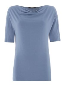 Max Mara Multia short sleeve cowl neck top